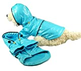Pet Life PVC Fashion Raincoat in Light Blue – Medium