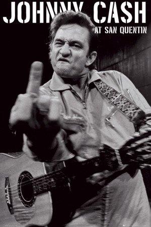 Poster 'Johnny Cash- San Quentin Portrait', Dimensione: 61 x 91 cm