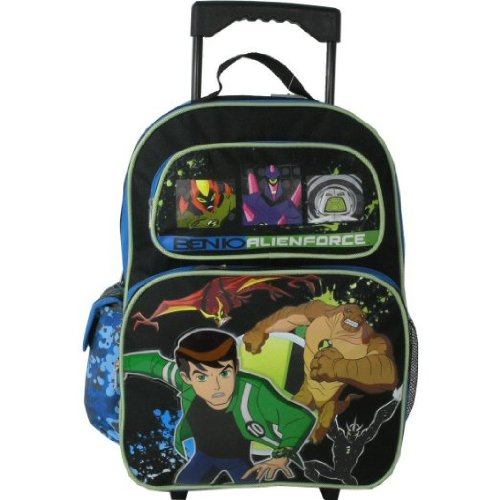 Ben 10 Alien Force Large Rolling Backpack