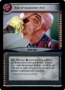 Star Trek Ccg 2e Wylb Behind Rule Of Acquisition #33 14u49