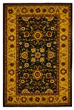 516hSMuDxJL. SL160  Generations Traditional Isfahan Persian Area Rugs, 5 Feet 2 by 7 Feet 3, Black
