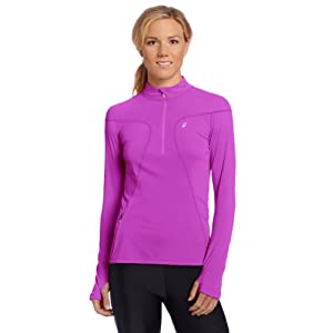 ASICS Women's Favorite 1/2 Zip Top, Purple Pop, Large