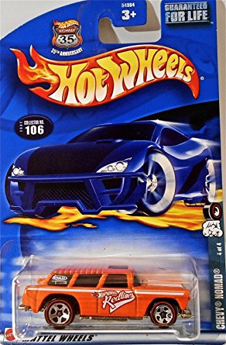 Hot Wheels Chevy Nomad 4 of 4 2002 106 Red Line Wheels - 1
