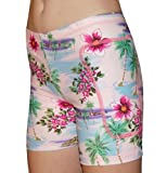 Tuga Junior's/Women's Padded Slider Shorts, 5 Inch Inseam, Tropical Print