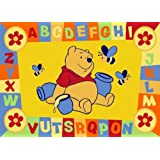 Luxury Childrens Character Winnie The Pooh ABC Yellow Disney Rug/Mat