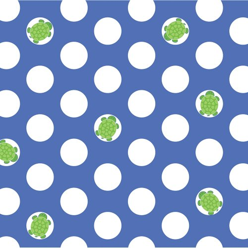 Creative Converting Mr. Turtle Birthday Beverage Napkins, 16-Count front-498079