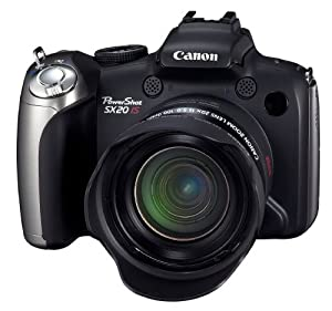 Canon PowerShot SX20IS 12.1MP Digital Camera with 20x Wide Angle Optical Image Stabilized Zoom and 2.5-Inch Articulating LCD