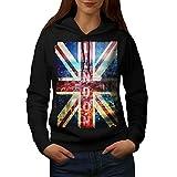 London England Kunst Vereinigtes Königreich Damen NEU Schwarz L Kapuzenpullover   Wellcoda