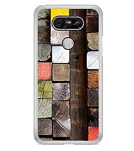 Colourful Wooden Blocks 2D Hard Polycarbonate Designer Back Case Cover for LG G5 :: LG G5 Dual H860N :: LG G5 Speed H858 H850 VS987 H820 LS992 H830 US992