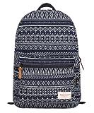 kmbuy - Vintage Aztec Tribal Style Unisex Fashion Casual School Travel Shoulder Backpack bag with laptop Compartment / 44cm*29cm*14cm (sapphire)