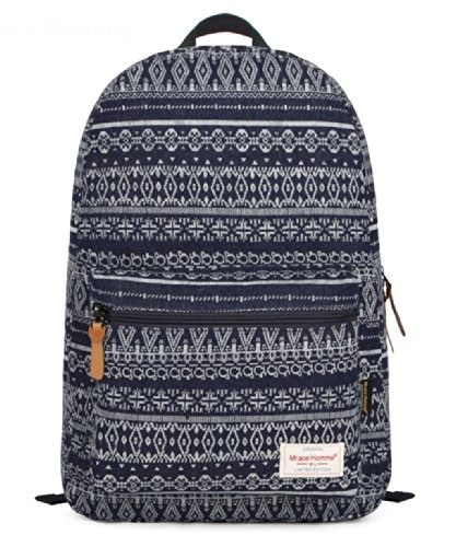 Kmbuy - Vintage Aztec Tribal Style Unisex Fashion Casual School Travel Shoulder Backpack Bag With Laptop Compartment / 44Cm*29Cm*14Cm (Sapphire) front-640488