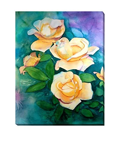 Lynne Atwood Yellow Roses Weather-Resistant Canvas Print