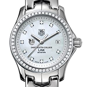 Dartmouth College TAG Heuer Watch - Women's Link Watch with Diamond Bezel
