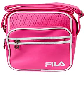 FILA RETRO SHOULDER SPORTS BAG POUCH MESSENGER SMALL ITEMS ALDRICH BAGS 3 ZIP POCKETS 7 COLOURS WHITE, NAVY, BLACK/WHITE, PURPLE, BLUE,PINK,BLACK/GOLD NEW (PINK/WHITE)