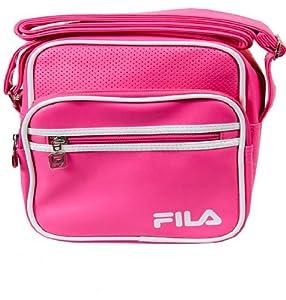 FILA RETRO SHOULDER SPORTS BAG POUCH MESSENGER SMALL ITEMS ALDRICH BAGS 3 ZIP POCKETS 7 COLOURS WHITE, NAVY, BLACK/WHITE, PURPLE, BLUE,PINK,BLACK/GOLD NEW (PINK/WHITE)