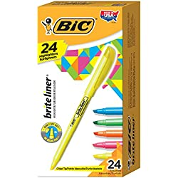 24-Pack BIC Brite Liner Highlighter, Chisel Tip, Assorted Colors