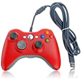 DuaFire Red Wired USB Pad Joypad Game Controller For MICROSOFT Xbox 360 PC Windows