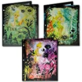 Disney Tinkerbell Fairies Portfolio Folders Set of 3 Assorted Design