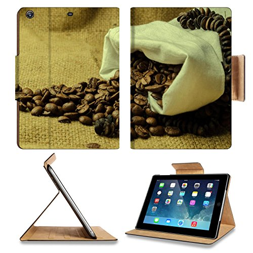Coffee Beans In Burlap Sack 3Dcom Apple Ipad Air Retina Display 5Th Flip Case Stand Smart Magnetic Cover Made To Order Premium Deluxe Pu Leather