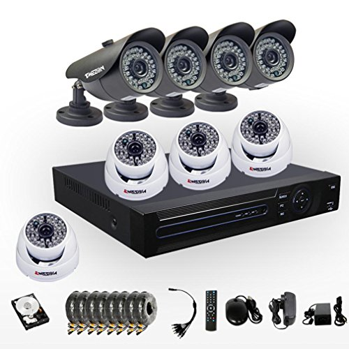 Tmezon Home Security 16Ch Hdmi P2P Dvr Camera System With 4Pcs 900Tvl/960H Bullet 36Ir Leds And 4Pcs Dome Day/Night 48Ir Leds 130Ft Weatherproof Hi-Resolution Cctv Surveillance Cameras 2Tb Hdd front-1048193