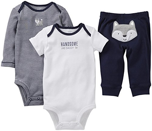 """Carter'S Baby Boys' 3 Piece """"Take Me Away"""" Set (Baby) - Like Daddy - Navy - 6 Months front-171125"""
