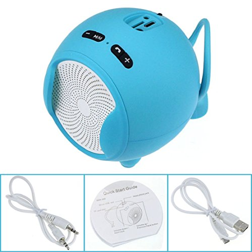 Towallmark(Tm)Portable Wireless Bluetooth Handsfree Mic Super Bass Mini Speaker (Blue)
