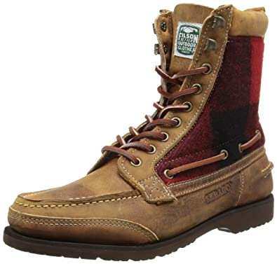 SEBAGO Mens Osmore Boots B73138 Brown/Red/Black Wool 6.5 UK, 40 EU, 7 US, Wide