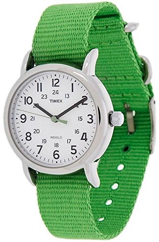 Timex Weekender Slip Through Mid Size - Green timex t2m875