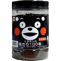 木村海苔 かに印 くまモンの味のり100枚10切100枚