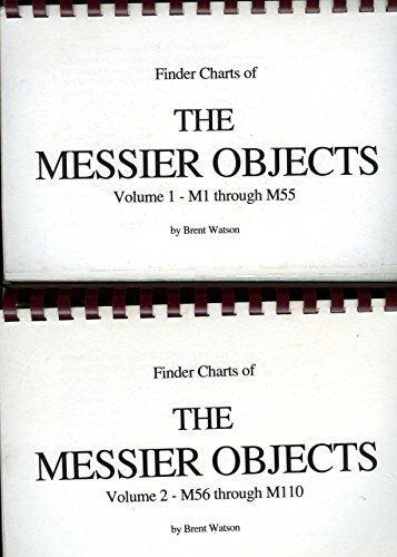 Finder charts of the Messier objects - 2 Volume set (Messier Objects Chart compare prices)