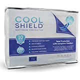 Cool Shield No Allergy Waterproof Mattress Protector - Breathable Terry Cover Protects Against Dust Mites, Allergens, Bacteria, Mold and Fluids - See Reviews - Machine Washable Mattress Protector - Best 10-yr Guarantee - Size: King (78 in x 80 in)