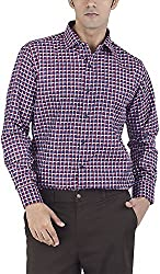 Silkina Men's Regular Fit Shirt (EXCHKSN3BW, 44)