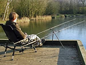 Cyprinus Whole Hog Fishing padded arm Chair seat + Rod Pod rod rest ideal for Coarse and Carp Fishing