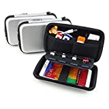 USB Flash Drive Hard Drive Cable Electronic Case Organizer - DDQ Portable Waterproof Shockproof Case Holder - Silver (Color: Silver)