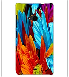 PrintDhaba Flower D-2181 Back Case Cover for MICROSOFT LUMIA 535 (Multi-Coloured)