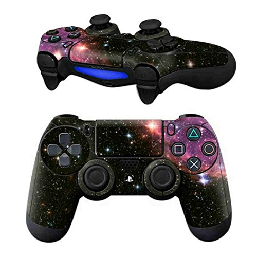 DOTBUY PS4 Pelli Adesivi Giochi Joystick Sony Playstation 4 Controller Dualshock Vinile Decalcomanie x 1 (Starry Pink)