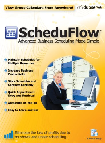 ScheduFlow Calendar and Appointment Scheduling Software - 1 Computer License