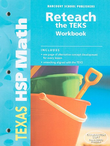 Texas HSP Math Reteach the TEKS: Grade 1 (Hsp Math 09)