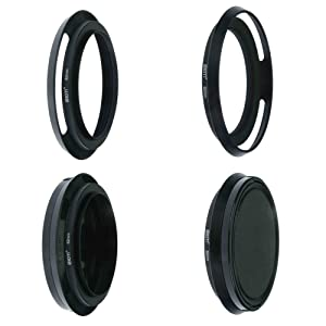 SIOTI Filmy Wide Angle Vented Metal Lens Hood with Cleaning Cloth and Lens Cap Compatible with Leica/Fuji/Nikon/Canon/Samsung Standard Thread Lens (Color: Wide Angle Vented, Tamaño: 62mm)