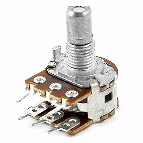 50K Ohm B50K 6mm Welle Dia 6 Terminals Dual-Potentiometer Taper