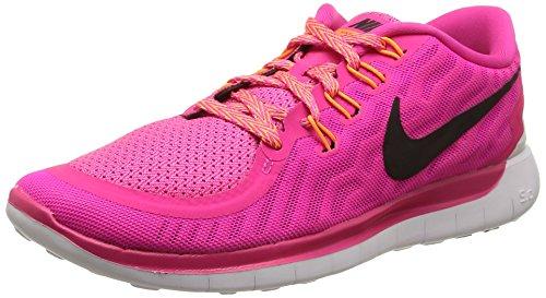 Nike Wmns Free 5.0 - Scarpe sportive Donna, fucsia / negro, 38
