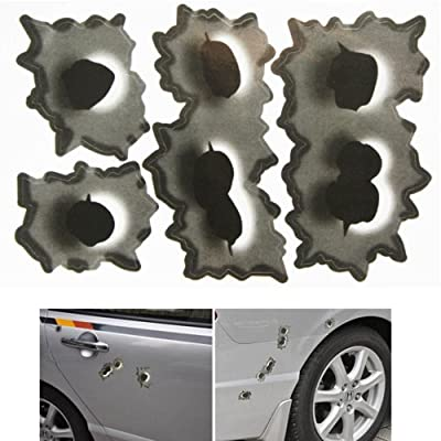 Carcare Fake Bullet Holes Funny Car Helmet Stickers Decals Emblem Symbol For Toyota BMW VW Volkswagen Ford Buick Porsche