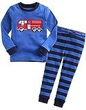 Vaenait Baby 74-122 Säugling Kinder Langarm Bekleidung Schlafanzüge Set Fire Truck