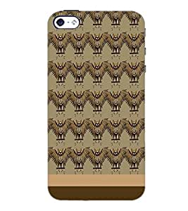 PrintDhaba Owl pattern D-1860 Back Case Cover for APPLE IPHONE 4 (Multi-Coloured)