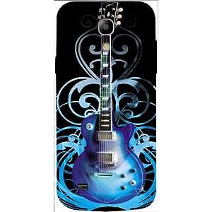 Casotec Guitar In Blue Pattern Design 3D Hard Back Case Cover for Samsung Galaxy S4 Mini