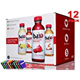 bai5 RED JUNGLE VARIETY 5-calories 100% NATURAL antioxidant infused beverage 18-OZ, PACK 12 (FREE GIFT 1 PC PENCIL POUCH)
