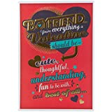 Hallmark Valentine's Day Boyfriend Humour Foiled Decoration Card - Medium Slim