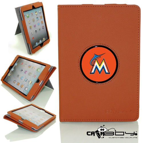 New SLEEP SMART Apple iPad Mini & iPad Mini with Retina leather Case By Calaboy- Interchangeable Design - Personalized Picture Frame w Florida Miami Marlins Logo (BB28) at Amazon.com