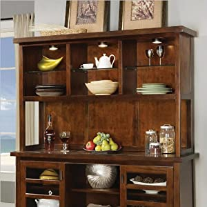 Wynwood SBH Sideboard Hutch in Tobacco Finish