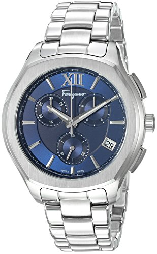 Salvatore-Ferragamo-Mens-LUNGARNO-CHRONO-Swiss-Quartz-Stainless-Steel-Casual-Watch-ColorSilver-Toned-Model-FLF930015